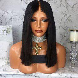Short Bob Lace Front Wigs Middle Part Human Hair Wigs For Women -