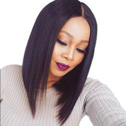 Bob Haircut Human Hair Lace Front Wigs Middle Part Wigs With Baby Hair -