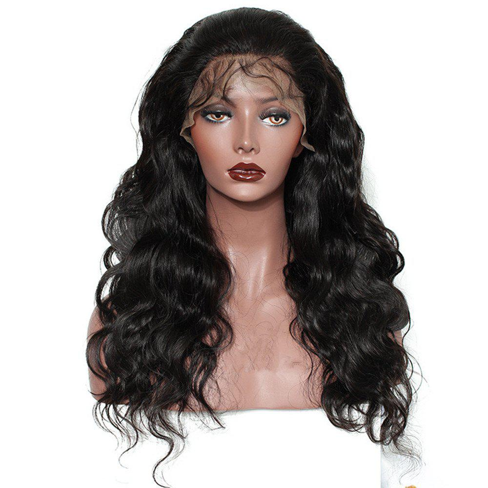Best Long Body Wave Free Part Natural Black Lace Front Human Hair Wigs with Baby Hair