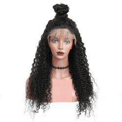 Long Deep Curly Natural Black Color Lace Front Wigs with Baby Hair For Women -