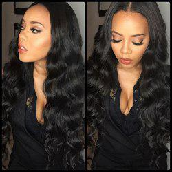 Body Wave Natural Black Color Human Hair Lace Front Wig for Women -