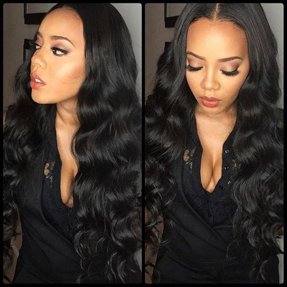 Body Wave Natural Black Color Human Hair Lace Front Wig for Women - 22  Inches 92f78e2436