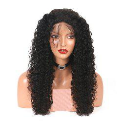 Kinky Curly Long Human Hair Lace Front Wig For Women with Baby Hair -