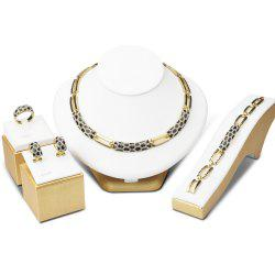 Gold Color Jewelry Sets Multicolor Vintage Jewellery Set for Women Wedding Gift -