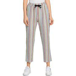 Women's Colore Striped Loose Pants -