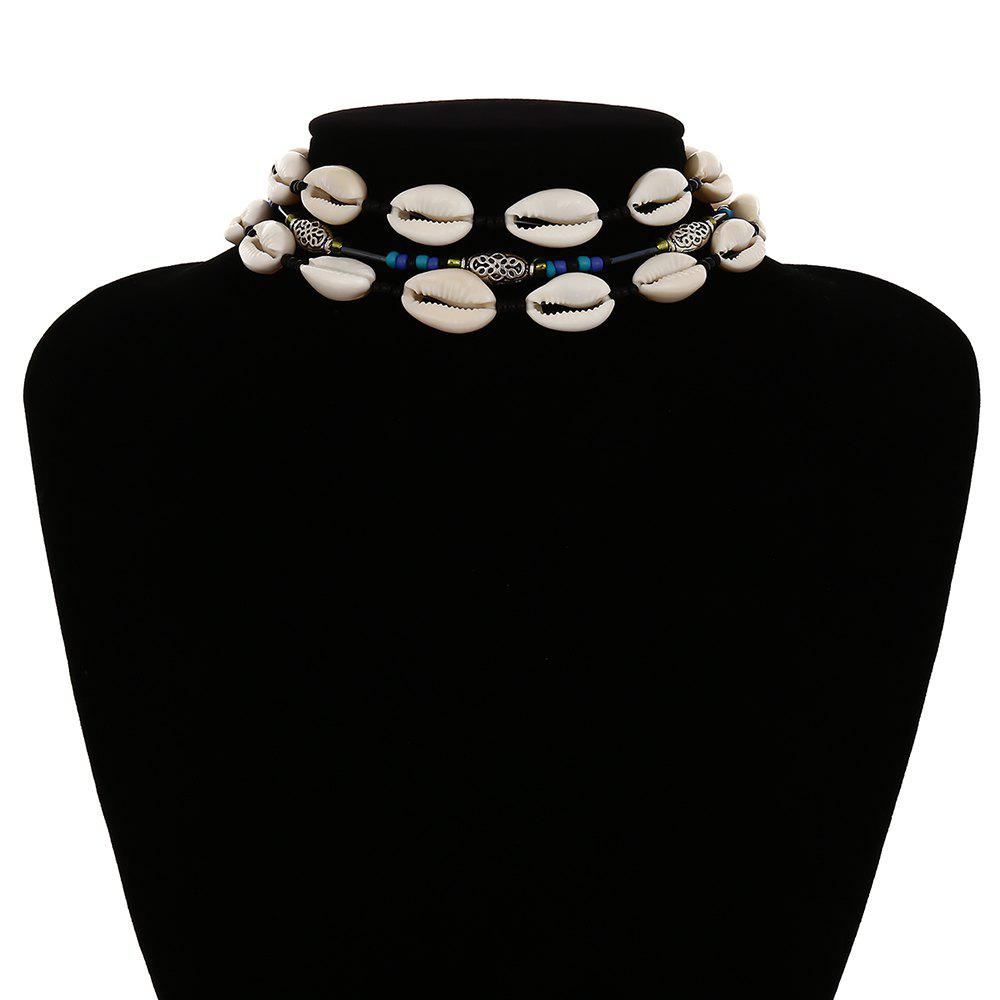 Trendy Simple multi-layer ethnic style shell necklace
