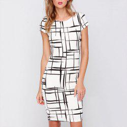 Casual Printed Sexy Round Neck Small Sleeves Fashion Dress -
