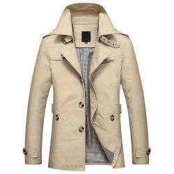 New Man Cotton Washed Upper Cotton Trench Coat -