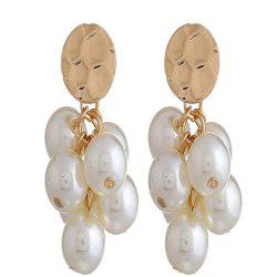 Grape Pendant Long Pearl Earrings -