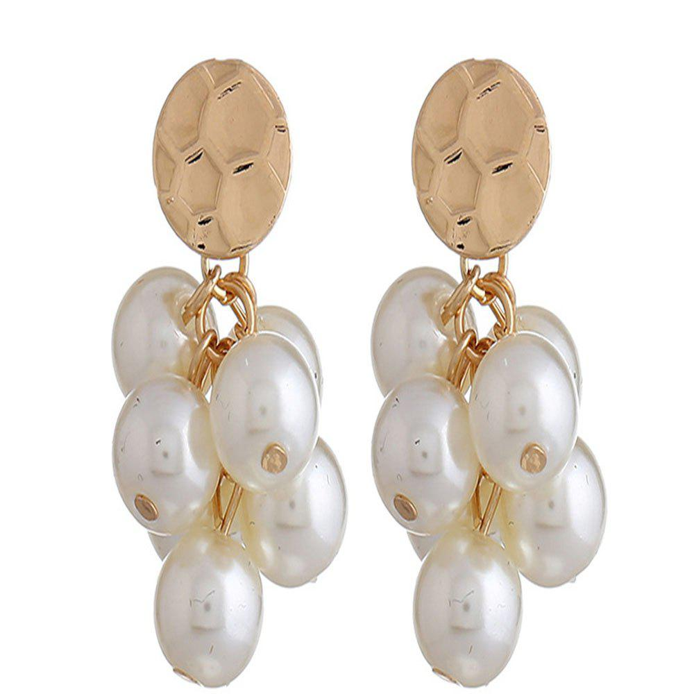 Sale Grape Pendant Long Pearl Earrings