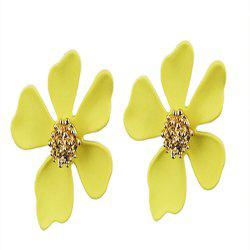 Daisy Petal Personality Exaggerated Big Earrings -