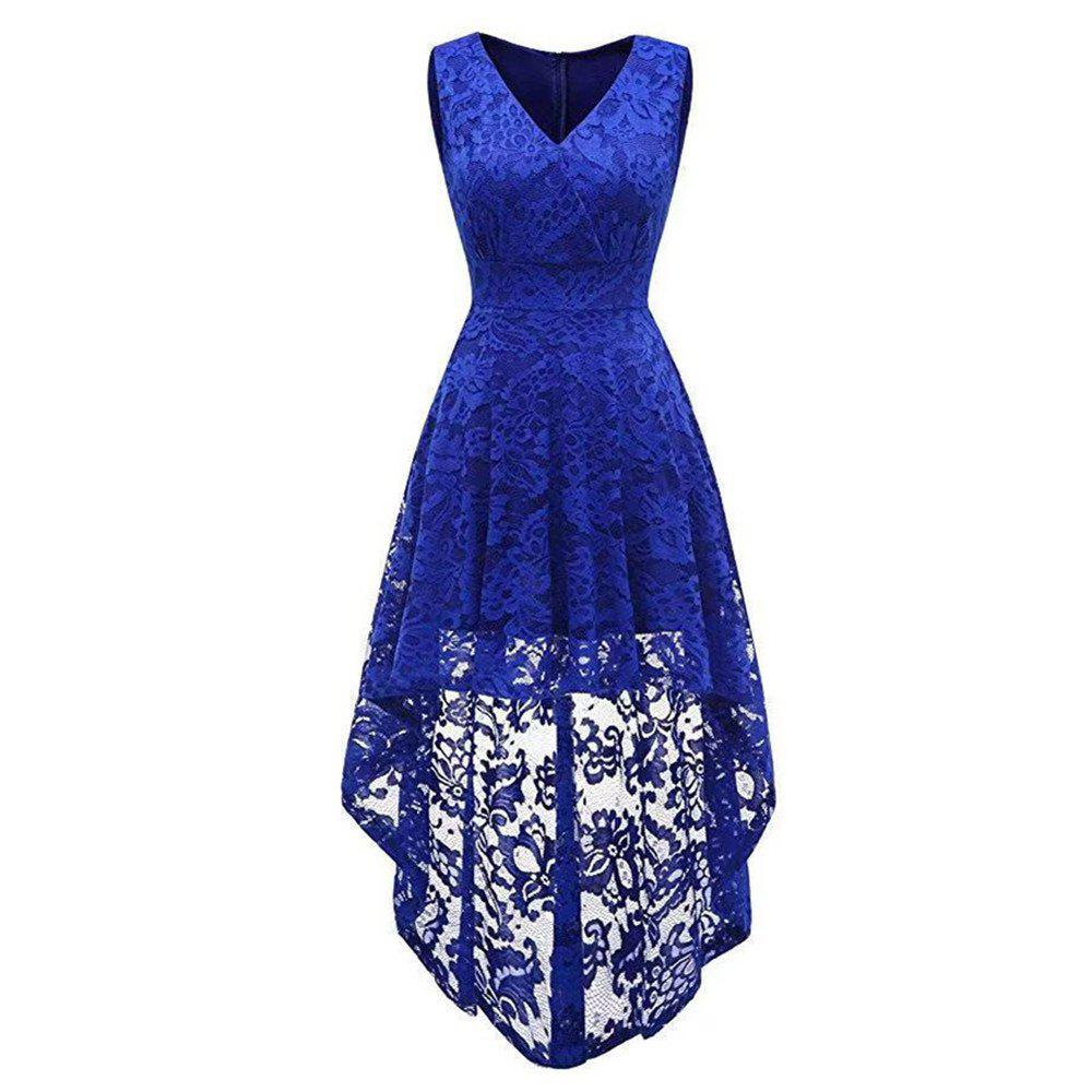 Outfit Women's Wear V Collar Sleeveless Cocktail Lace Dress