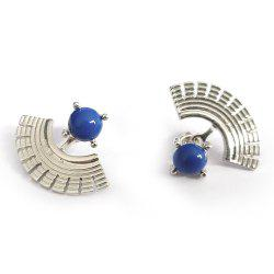 Various Blue Creative Fan-Shaped Jewelry Earrings -