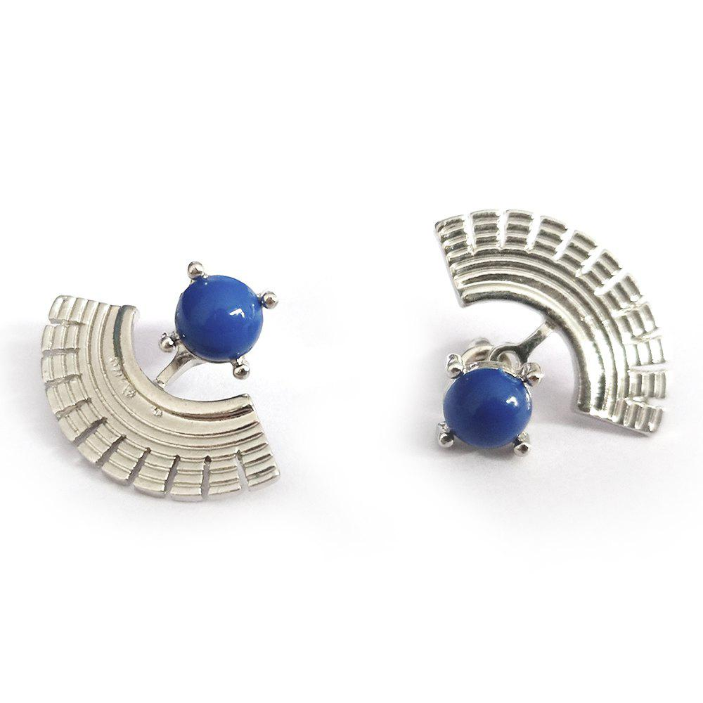 Buy Various Blue Creative Fan-Shaped Jewelry Earrings
