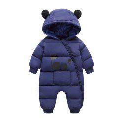 Baby Boy Girl Winter Hooded Rompers Thick Cotton Outfit Jumpsuit -