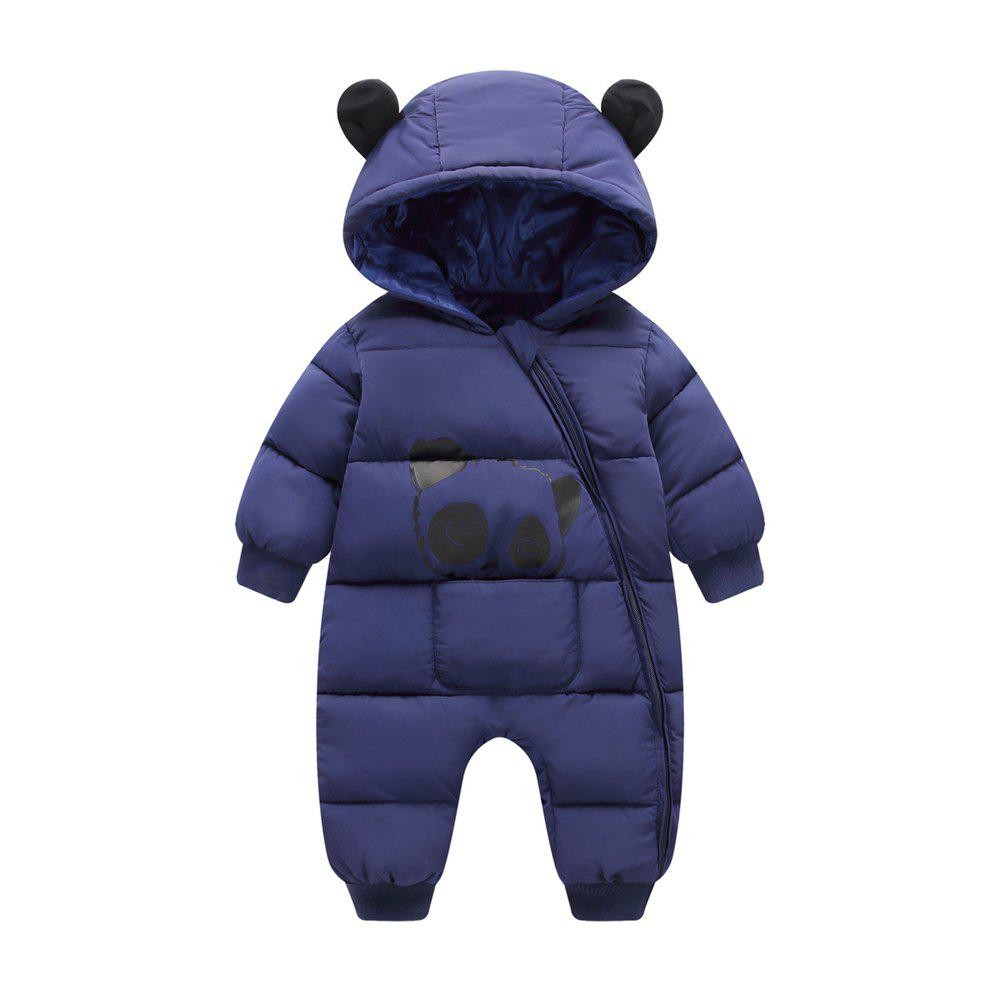 Cheap Baby Boy Girl Winter Hooded Rompers Thick Cotton Outfit Jumpsuit