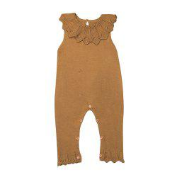 Baby Girls Ruffle Knitted Wool Romper Jumpsuit Playsuit Pajamas Baby Clothes -