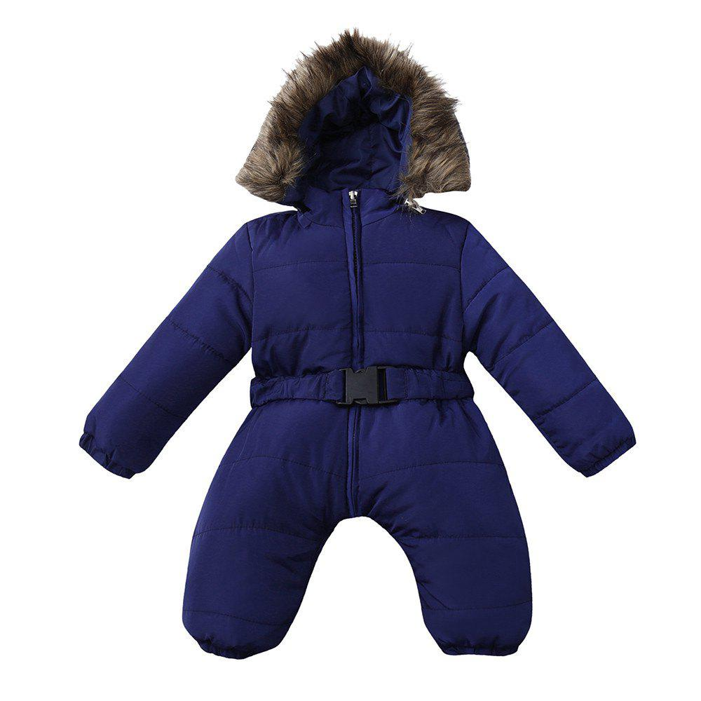 Cheap Baby Winter Clothes Girl Boy Romper Warm Jumpsuit Overalls Hooded Outerwear
