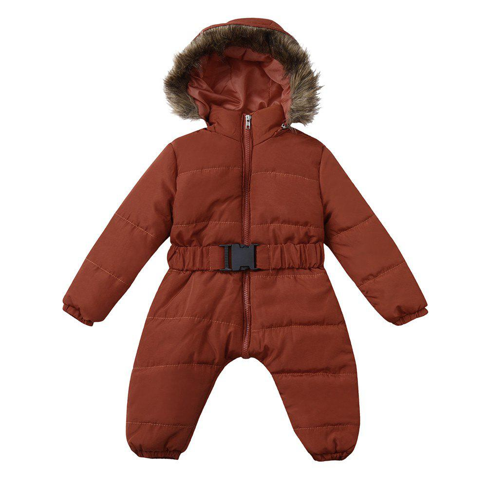 4da2d175163 Sale Baby Winter Clothes Girl Boy Romper Warm Jumpsuit Overalls Hooded  Outerwear