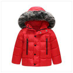 2019 Autumn Winter Boys Jacket Coat Kids Warm Thick Hooded Children Outerwear -