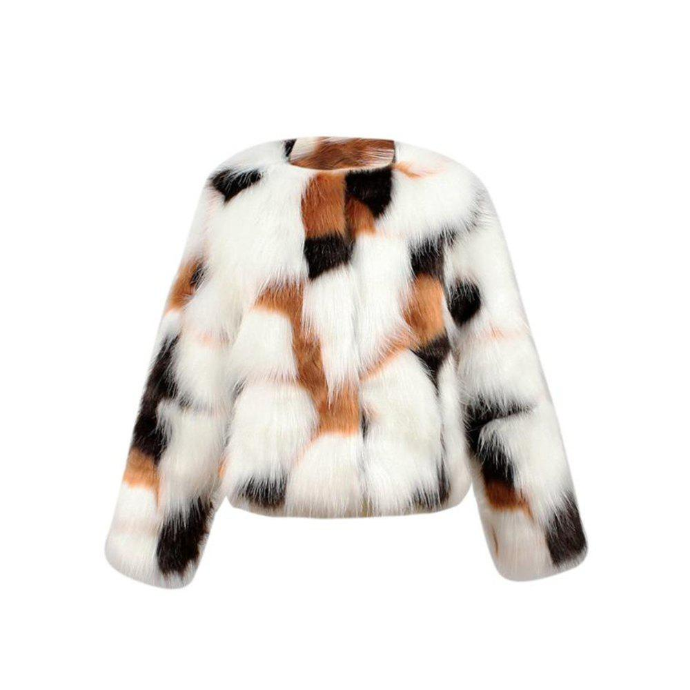 Fancy Baby Girls Autumn Winter Faux Fur Coat Girl Jacket Thick Warm Outwear Clothes