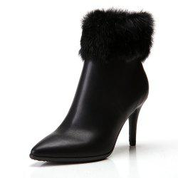 Pointed High-Heeled Short Boots Warm Women'S Boots -