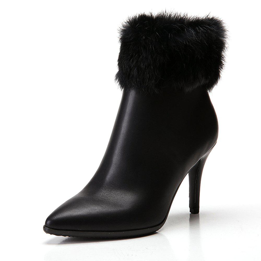 New Pointed High-Heeled Short Boots Warm Women'S Boots