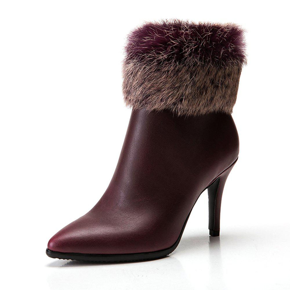 Affordable Pointed High-Heeled Short Boots Warm Women'S Boots