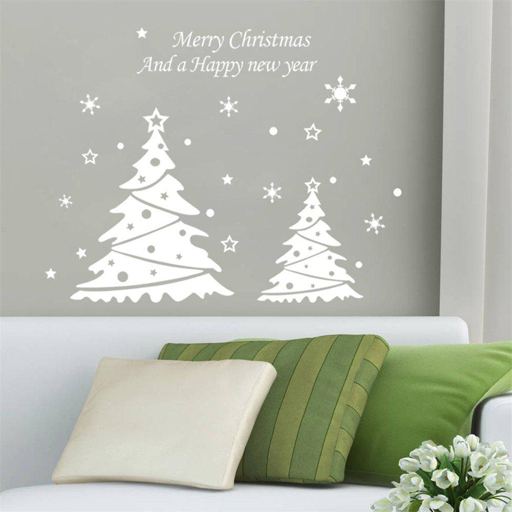 New Fashion Christmas Tree Wall Sticker Vinyl Removable Wall Stickers