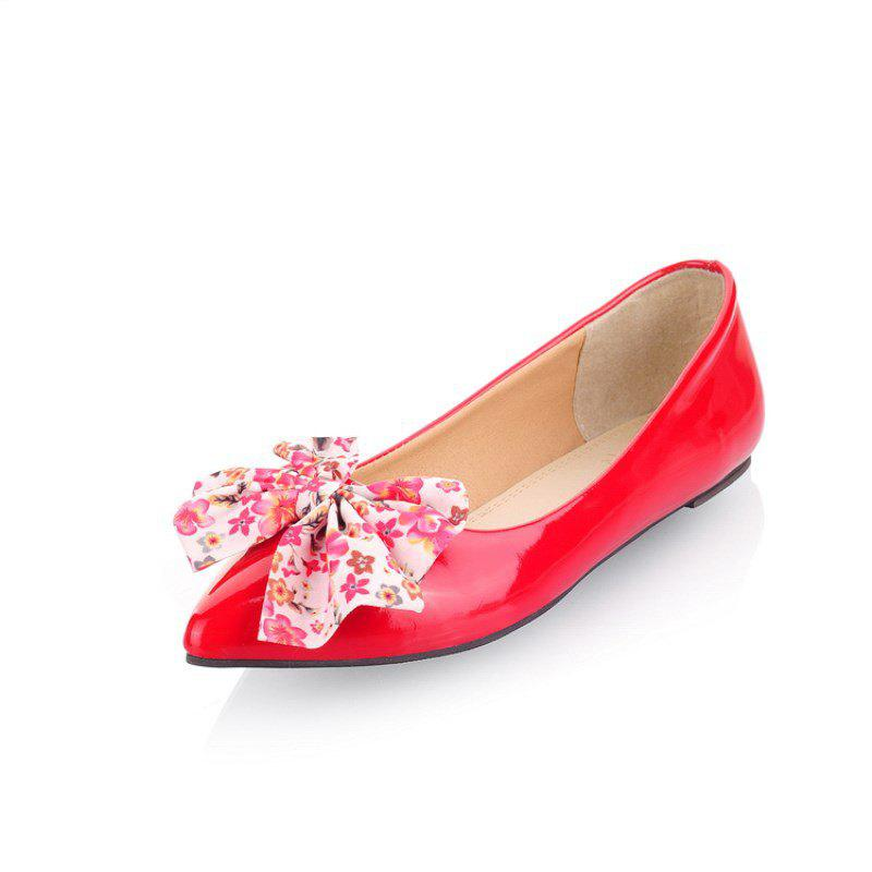 Nouveau Robe pointue Bowknot Sweet Chaussures plates