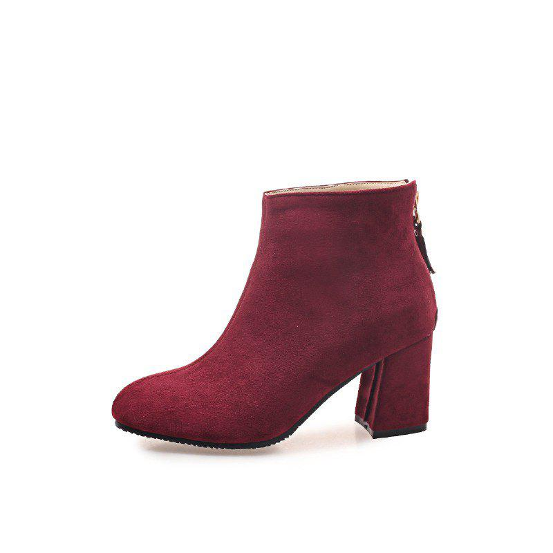 Outfits New Winter Style Coarse Suede Zipper Warm Boots