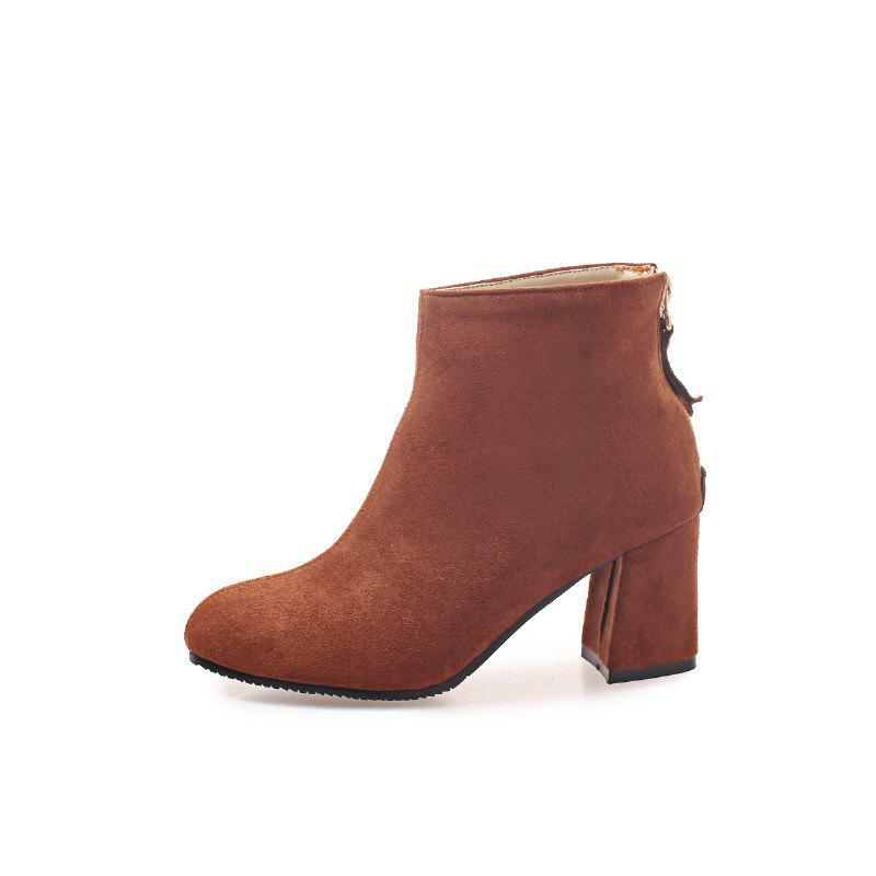 Shops New Winter Style Coarse Suede Zipper Warm Boots