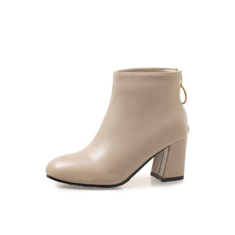 Shop New Winter Boots with PU Zipper Warm Boots