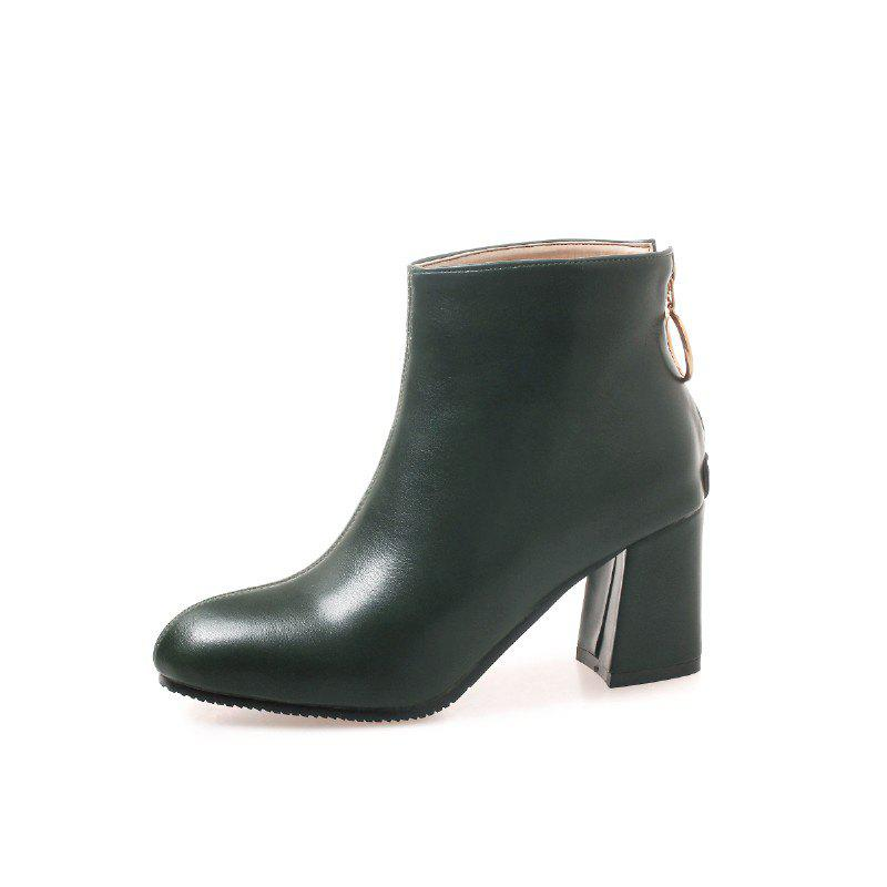 Chic New Winter Boots with PU Zipper Warm Boots