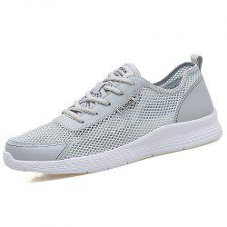 Men Outdoor Lightweight Mesh Hollow Breathable Casual Sports Running Shoes -