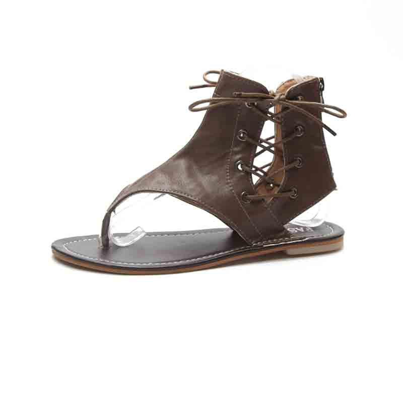 Hot Flat Bottomed Toes Buckles Fashion Casual Sandals