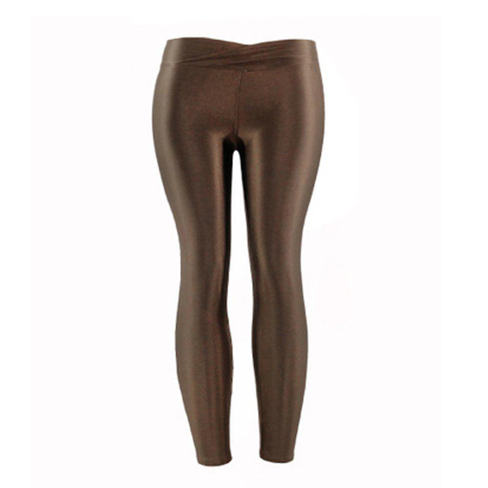 Latest New Low Waist Stretch Slim Gloss Pants Thin Section Candy Color Nine Points