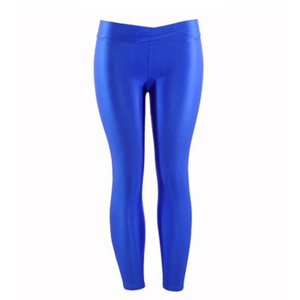 Best New Low Waist Stretch Slim Gloss Pants Thin Section Candy Color Nine Points