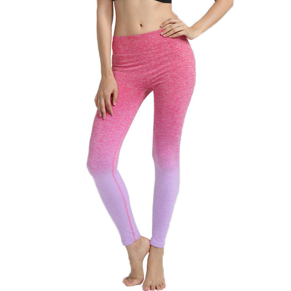 Fancy Gradient Color Yoga Women'S Tight-Fitting Running Nine Pants