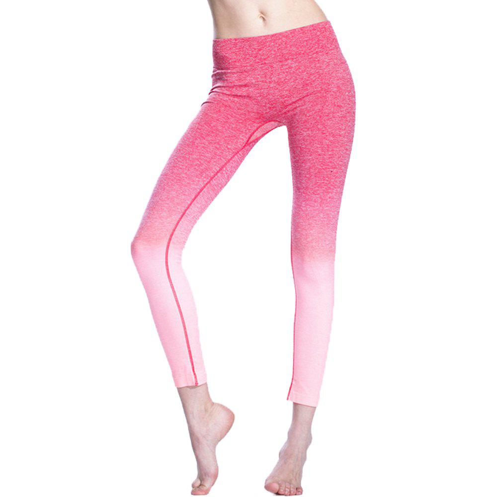 Shops Gradient Color Yoga Women'S Tight-Fitting Running Nine Pants