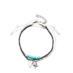 Bohemian Rice Beads Multi-Layer Handmade Anklets Vintage Fashion Turtle Anklets -
