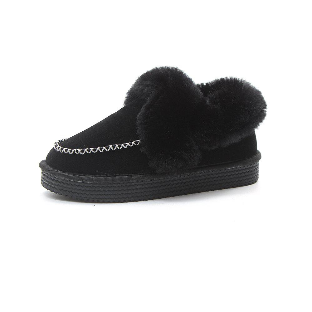 Affordable Fur Shoes Snow Boots Warm Women'S Boots Plus Thickening Non-Slip Bottom C