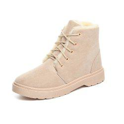 Warm Snow Boots Plus Padded Cotton Boots Ankle Boots Comfortable Flat Women -
