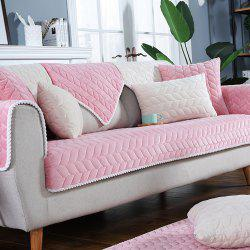Pure Color Short Plush Cloth with Anti-Skid Flannel Sofa Armrest -