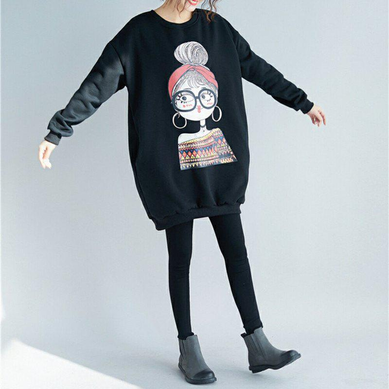 Sale Baggy Large Size and Pile Long Sleeve Head in The Long Style Jacket