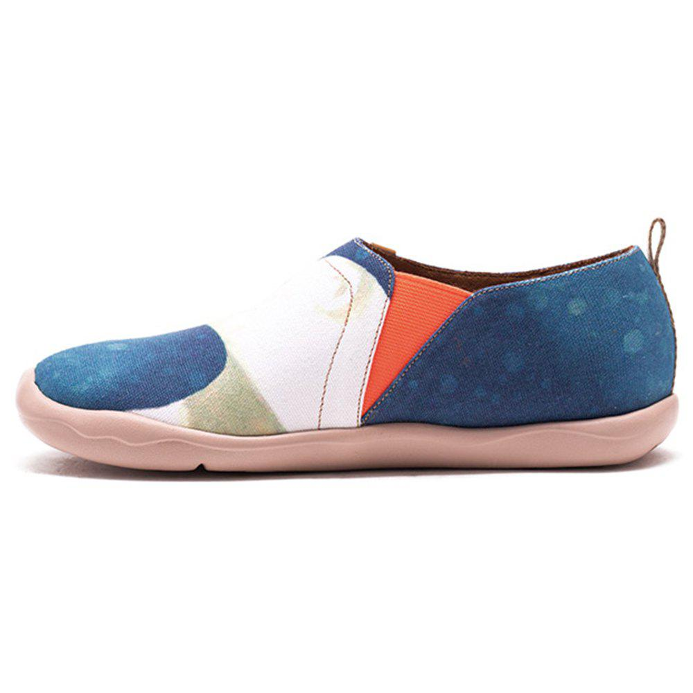 UIN Chaussures pour Femmes Hug You Painted Canvas Slip-On Chaussures de Voyage Casual