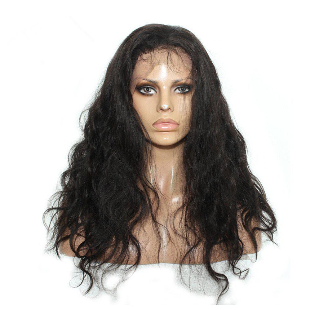 626644445 Store Long Wavy Free Part Human Hair Lace Front Wig with Baby Hair Bleached  Knots