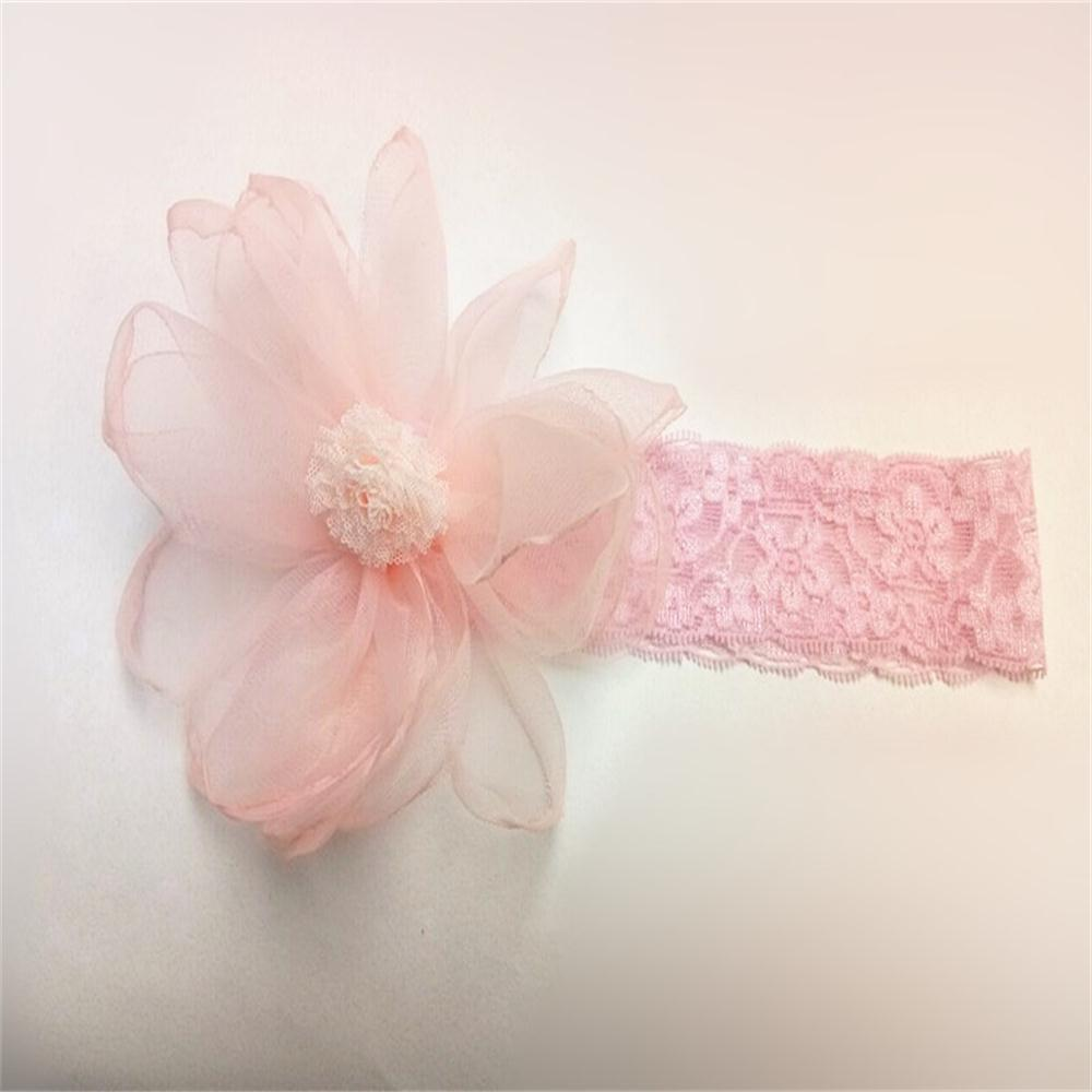 Outfits Girl's Hairband Lovely Stylish Gauze Flower Lace Hair Accessory
