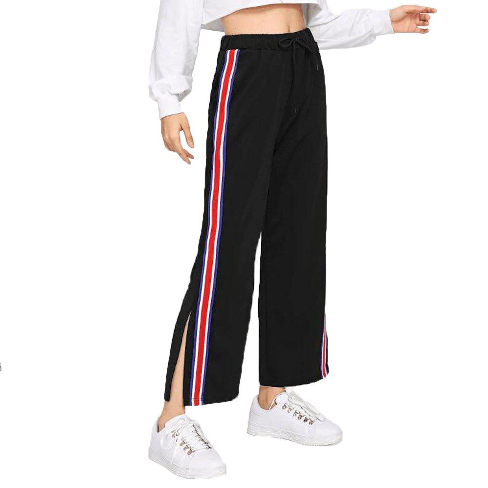 Chic Women's Splicing Casual Loose Trousers