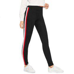 Women's Ribbons Side Sports Casual Pants -